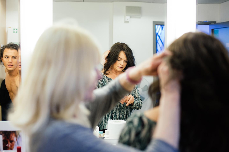 peruka teatralna włosy